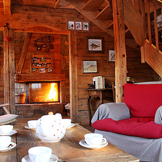 Chalet Manigod near the ski slopes, ski resort la Clusaz, French Alps