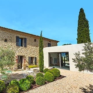 Mont Ventoux, villa met air conditioning, zwembad en tennisbaan in Provence